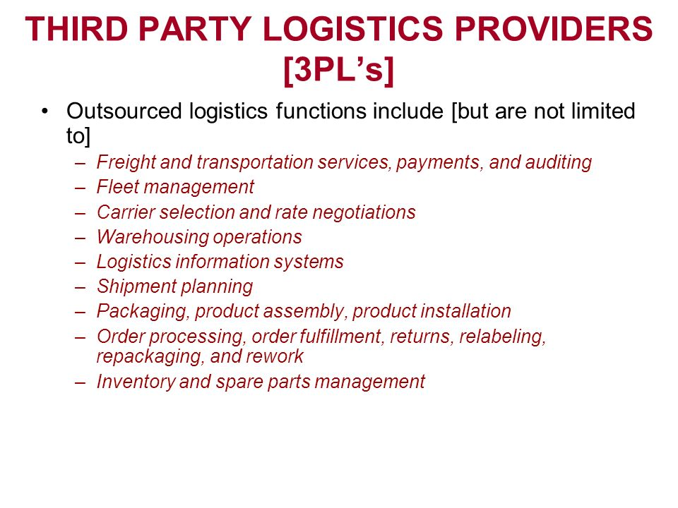 third party logistics logistics management Third-party logistics (3pl) company, united facilities, provides warehouse management, packaging, transportation, and supply chain services in the us.